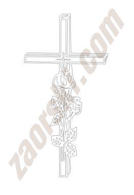 Krzyż 15Zaorski - zdobienie krzyżem wariant 15