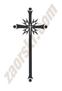 Zaorski - zdobienie krzyżem wariant 9