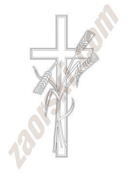 Zaorski - zdobienie krzyżem wariant 7