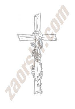 Zaorski - zdobienie krzyżem wariant 14